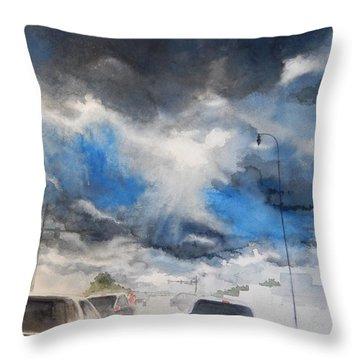 South Maple Road   Ann Arbor Michigan Throw Pillow by Yoshiko Mishina