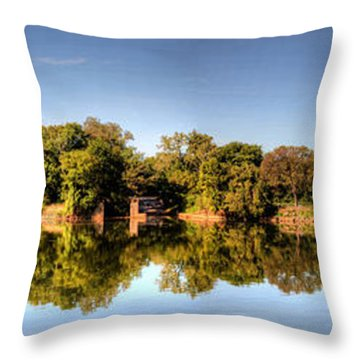 Throw Pillow featuring the digital art South Of The James by Kelvin Booker