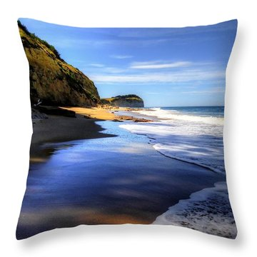South Pacific Shores Throw Pillow