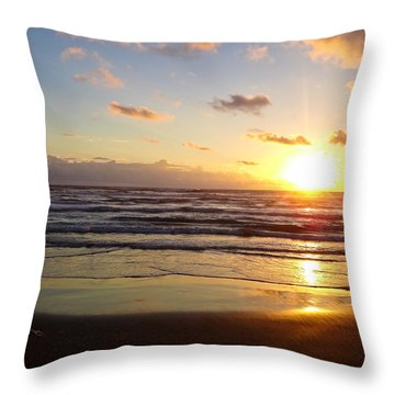 South Padre Island Sunrise Throw Pillow