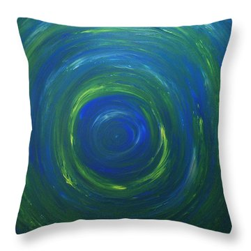 South Pole Of Saturn Throw Pillow by Drew Shourd