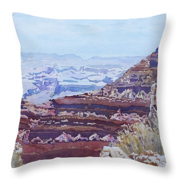 South Rim Color Throw Pillow by Jenny Armitage