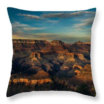 South Rim Nightfall Throw Pillow