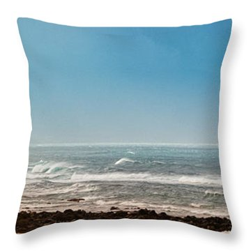 South Shore Maui Beach House Throw Pillow