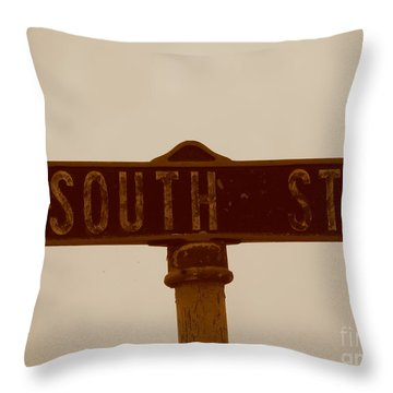 South Street Throw Pillow