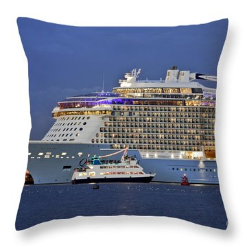 Size Matters Throw Pillow by Terri Waters