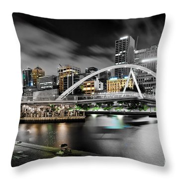 Southbank Footbridge Throw Pillow