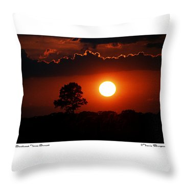 Southeast Texas Sunset Throw Pillow by Travis Burgess