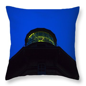 Southeast Lighthouse On Block Island  Throw Pillow