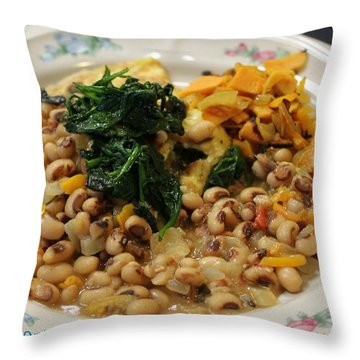 Throw Pillow featuring the photograph Southern Brunch by Cleaster Cotton copyright