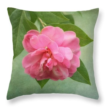 Southern Camellia Flower Throw Pillow
