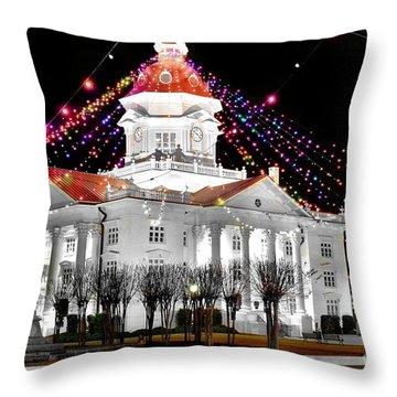 Southern Christmas Throw Pillow