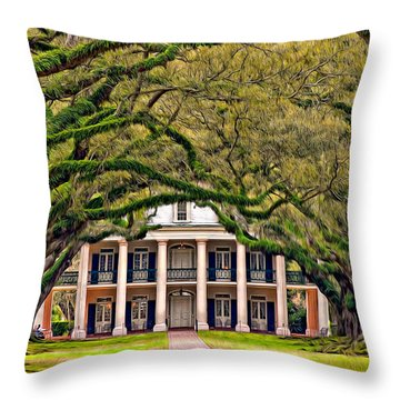 Southern Class Oil Throw Pillow