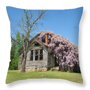 Southern Country Wisteria Throw Pillow