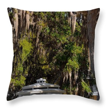 Southern Gothic In Mount Dora Florida Throw Pillow by Christine Till