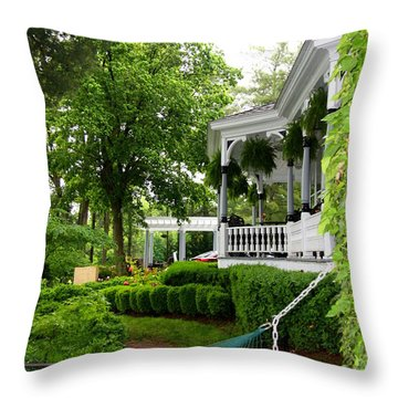 Southern Hospitality Throw Pillow by Patti Whitten