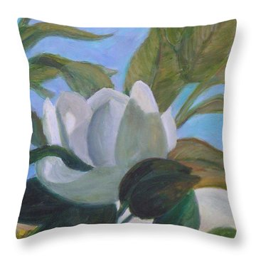 Southern Magnolias Throw Pillow
