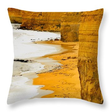 Southern Ocean Cliffs Throw Pillow