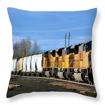 Southern Pacific Loading Up Throw Pillow