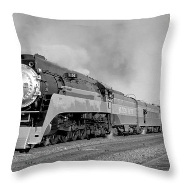 Southern Pacific Train In Texas Throw Pillow