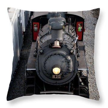 Southern Railway #630 Steam Engine Throw Pillow