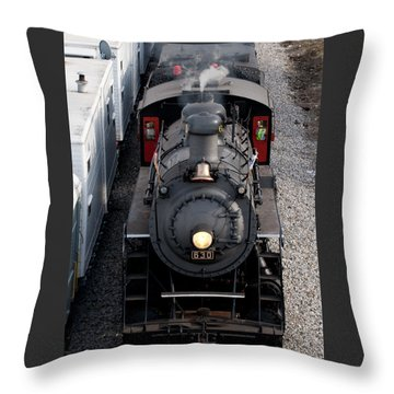 Southern Railway #630 Steam Engine Throw Pillow