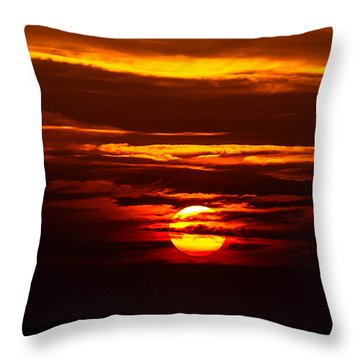 Southern Sunset Throw Pillow by Shannon Harrington