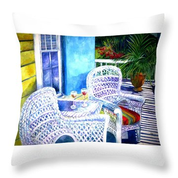 Southernmost Happy Hour Throw Pillow