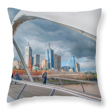 Southgate Bridge Throw Pillow
