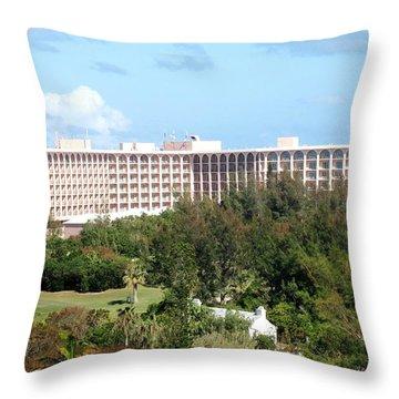 Southhampton Princess Bermuda Throw Pillow by Ian  MacDonald