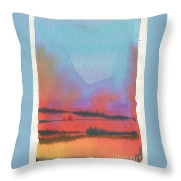 Throw Pillow featuring the painting Southland by Donald Maier