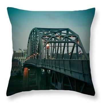 Southside Bridge  Throw Pillow