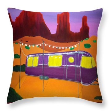 Southwest Contemporary Art - Sedona Twilight Throw Pillow