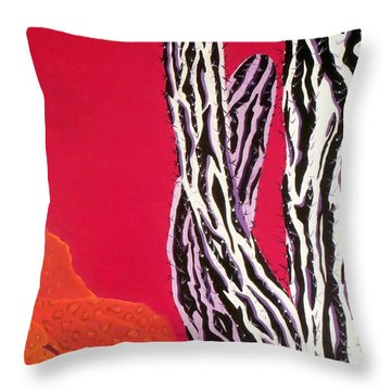 Southwest Contemporary Art - The Wild Wild West Throw Pillow