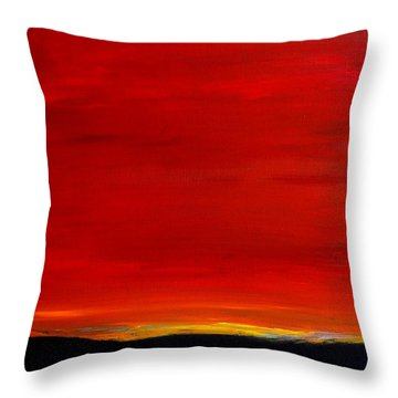 Southwest Desert Sunrise Throw Pillow