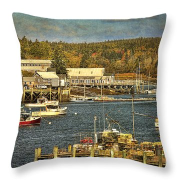 Southwest Harbor Throw Pillow by Cindi Ressler