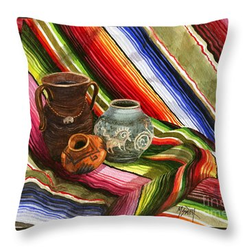Southwest Still Life Throw Pillow by Marilyn Smith