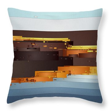 Southwest Sunrise 1 Throw Pillow by David Hansen