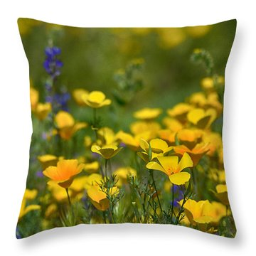 Southwest Wildflowers  Throw Pillow by Saija  Lehtonen