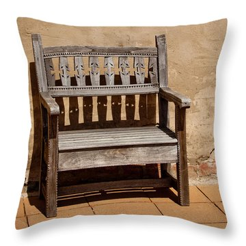 Southwestern Bench Throw Pillow by Art Block Collections