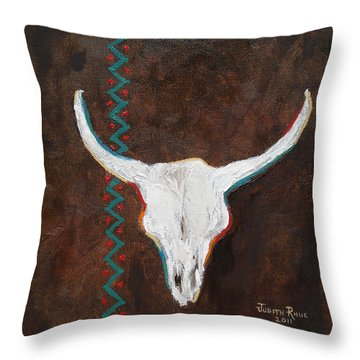 Throw Pillow featuring the painting Southwestern Influence by Judith Rhue