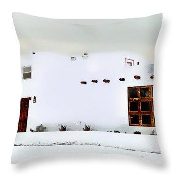 Southwestern Pueblo  Throw Pillow by Barbara Chichester