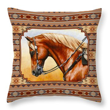 Southwestern Quarter Horse Pillow Throw Pillow