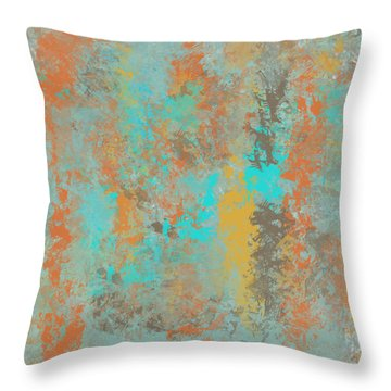 Southwestern Stone Abstract Throw Pillow