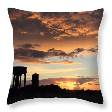 Water Towers On Southwold Common Throw Pillow