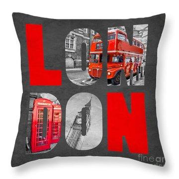Souvenir Of London Throw Pillow