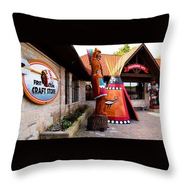 Souvenir City Niagara Falls Canada 2 Throw Pillow