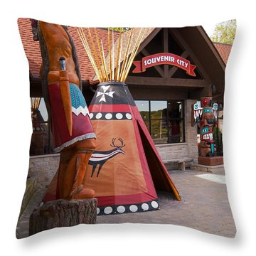 Souvenir City Niagara Falls Canada Throw Pillow