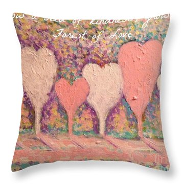 Sow A Seed Of Kindness Greeting Card Throw Pillow