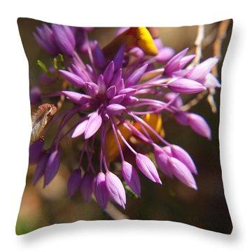 Sowerbaea Laxiflora Throw Pillow by Michaela Perryman